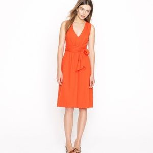 J CREW | Coral Orange Elinor Sleeveless Dress